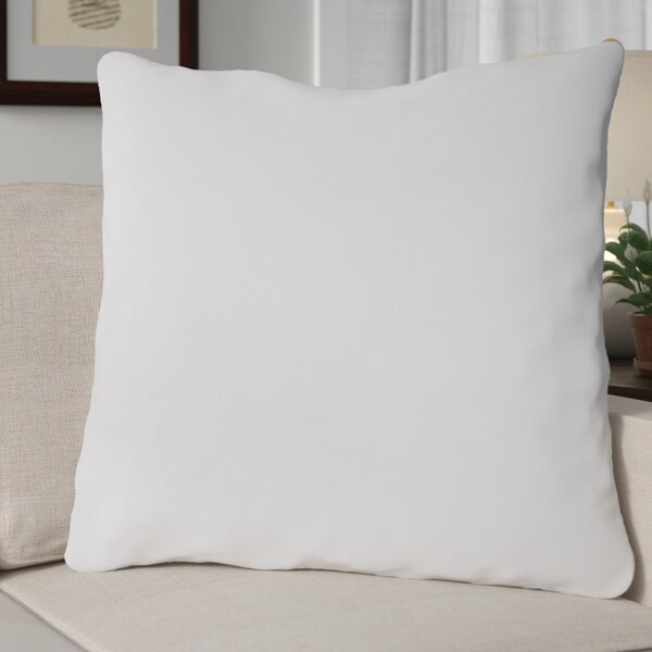 Water & Stain Resistant 100% Cotton Euro Pillow by Alwyn Home